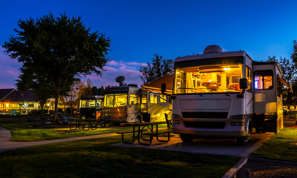 RV camping at a fairground
