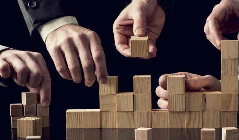 Cooperation venues planner team building blocks