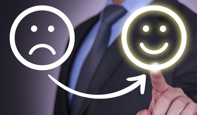 Happy smile sad smile customer journey